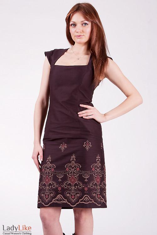 Платье классическое 511b Строгое платье облегающего покроя