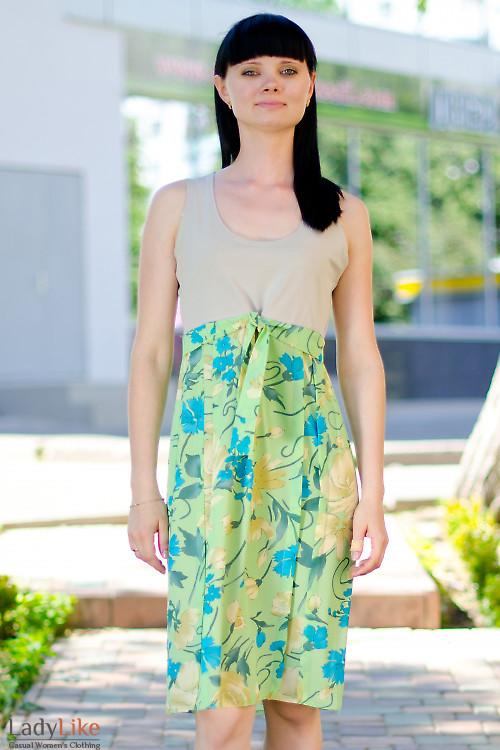 Платье летнее салатовое Деловая женская одежда