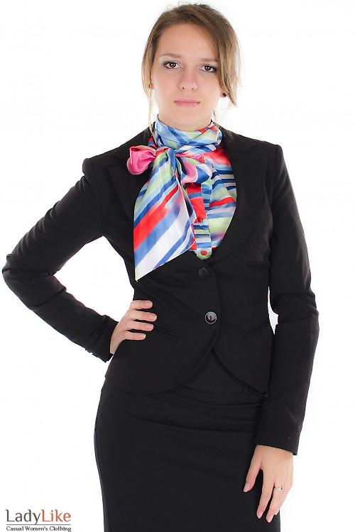 Жакет черный стильный Деловая женская одежда