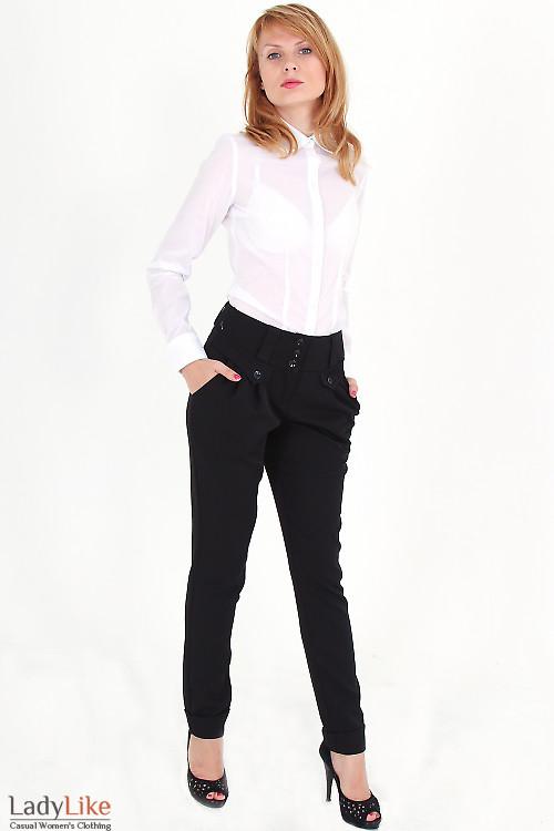 Фото Блузка белая строгая Деловая женская одежда