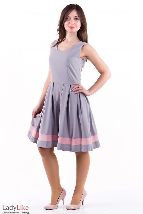 Фото Платье с розовой вставкой Деловая женская одежда