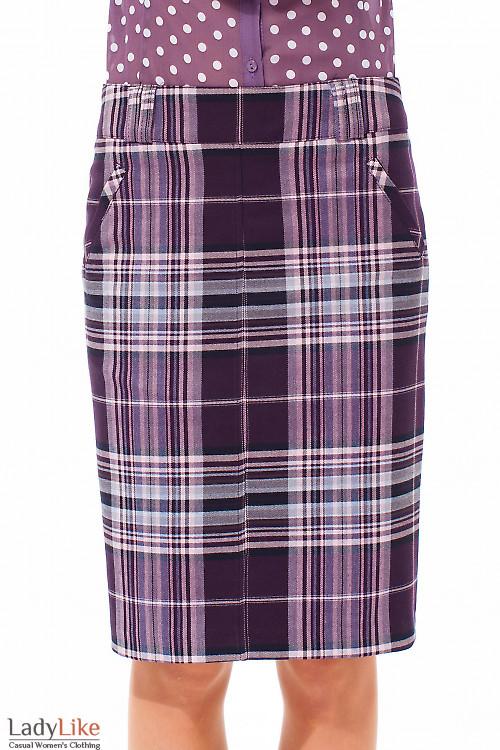 Купить юбка в розовую клетку Деловая женская одежда