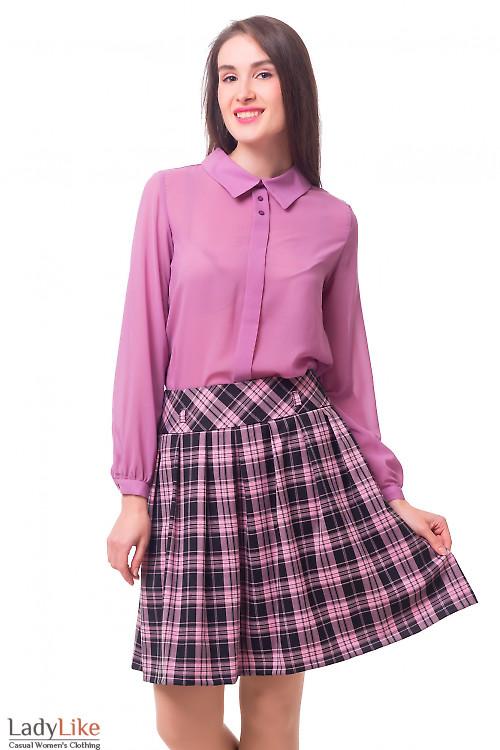 Блузка фрезовая с бантовой складкой Деловая женская одежда