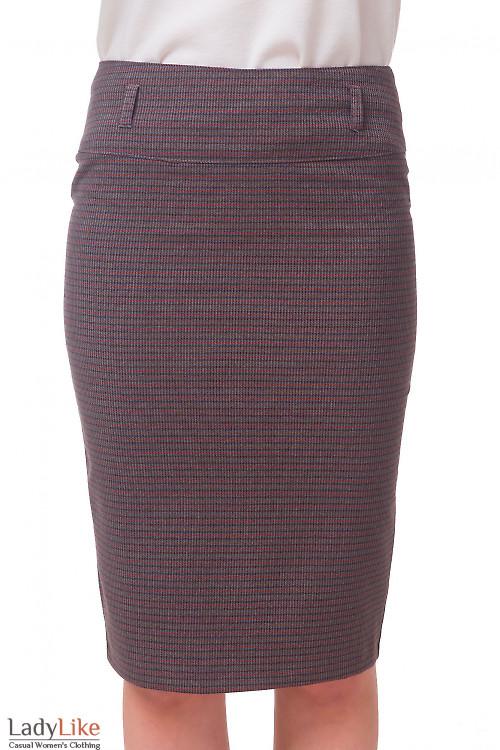 Юбка-карандаш в коричневую полоску Деловая женская одежда