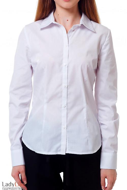 Рубашка белая женская с длинным рукавом Деловая женская одежда
