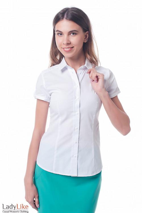 Белая женская рубашка Деловая женская одежда фото