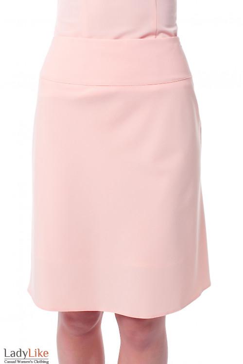 Юбка-трапеция розовая Деловая женская одежда фото