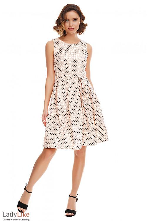 Платье розовое с пышной юбкой Деловая женская одежда фото