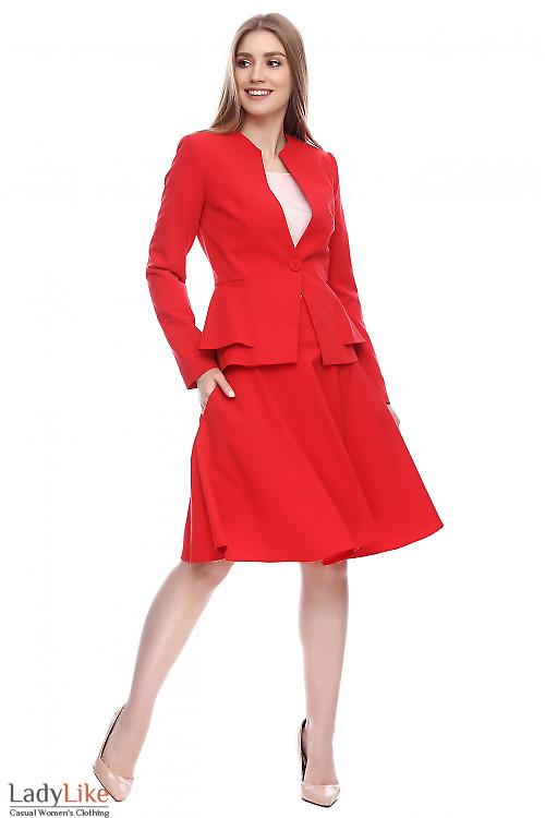 Юбка пышная красная Деловая женская одежда фото