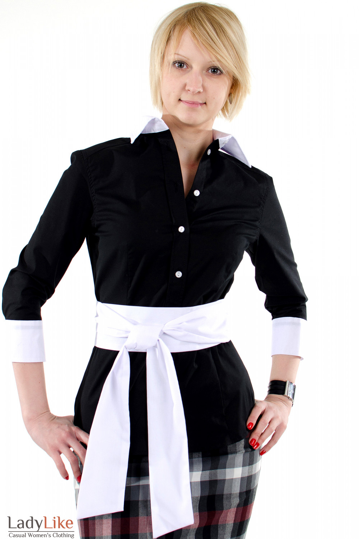 Блузка С Белым Воротником