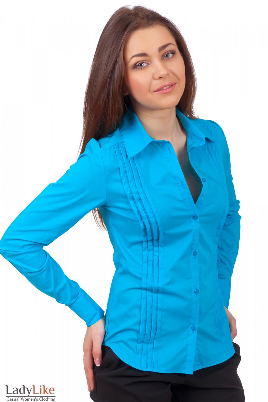 Блузка Голубого Цвета