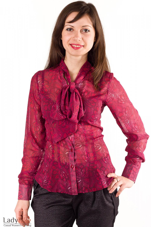 Блузка Красная Женская Доставка