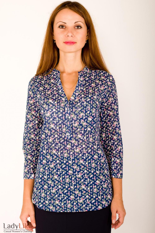 Блузка Синяя Доставка