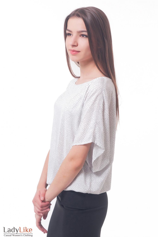 Белая Блузка В Черный Горошек