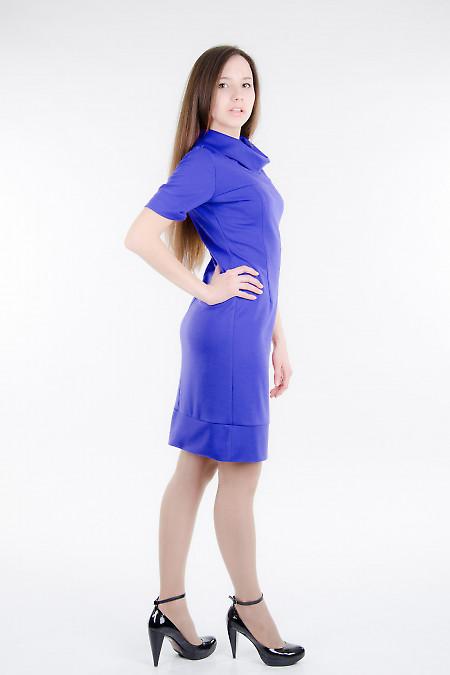 Платье трикотажное фиолетовое Деловая женская одежда