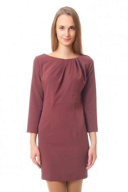 Купить коричневое платье Деловая женская одежда