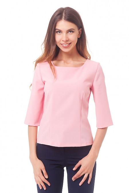 Розовая блузка с рукавом в три четверти Деловая женская одежда