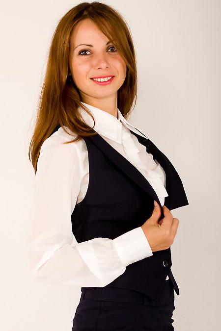 Фото Жилетка темно-синяя короткая Деловая женская одежда