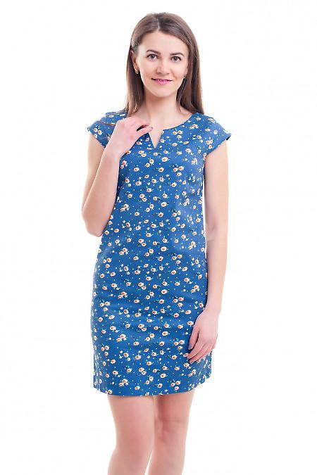Сарафан синий в белую ромашку Деловая женская одежда фото
