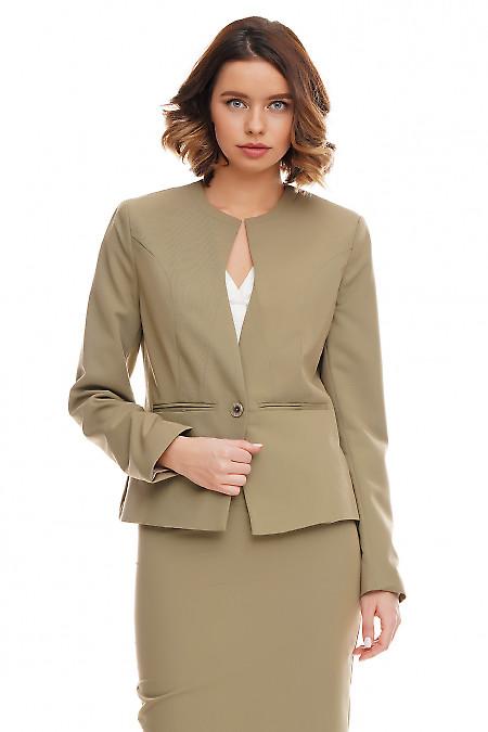 Жакет женский оливковый Деловая женская одежда фото