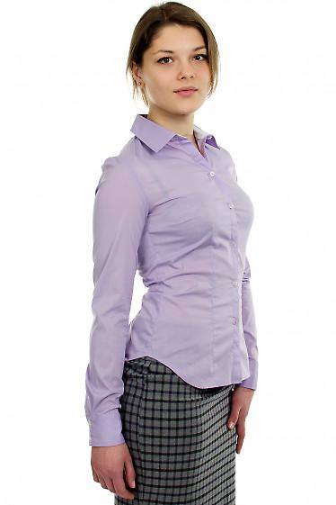 Блузка классическая сиреневая  Деловая женская одежда