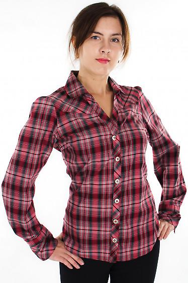 Блузка в красную клетку Деловая женская одежда
