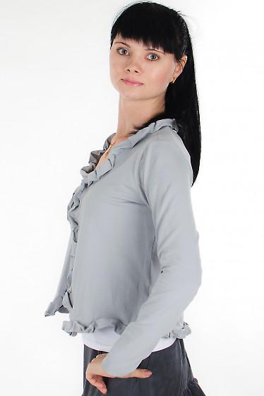 Болеро серое Деловая женская одежда