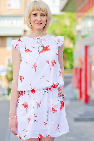 Платье летнее с карманами Деловая женская одежда