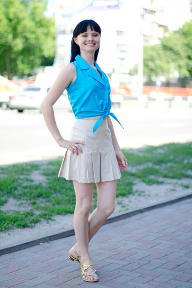 Юбка бежевая летняя Деловая женская одежда
