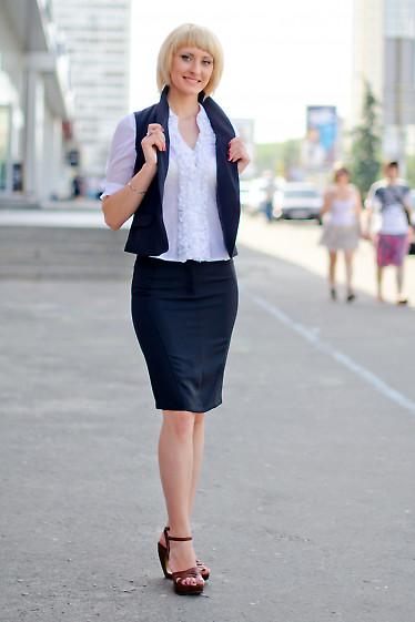 Юбка черная зауженая Деловая женская одежда