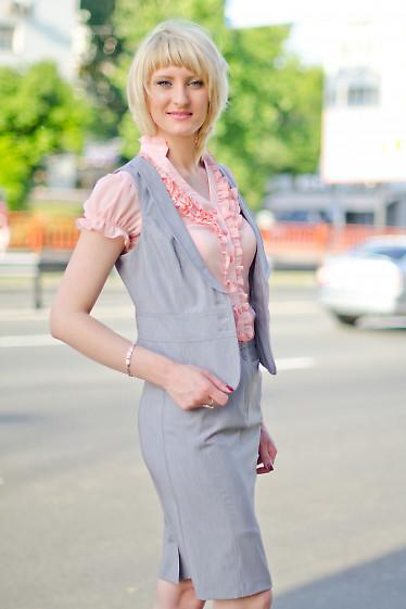 Юбка серая зауженая Деловая женская одежда