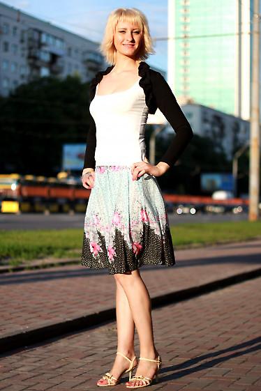 Юбка со складками цветная Деловая женская одежда