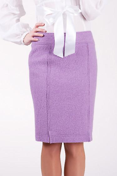 Юбка 252f  Прямая теплая юбка.