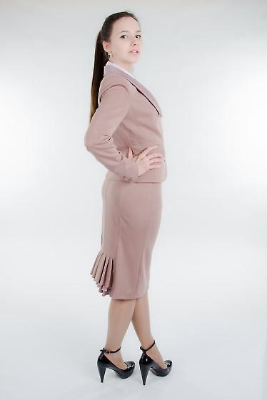 Юбка трикотажная с рюшем Деловая женская одежда
