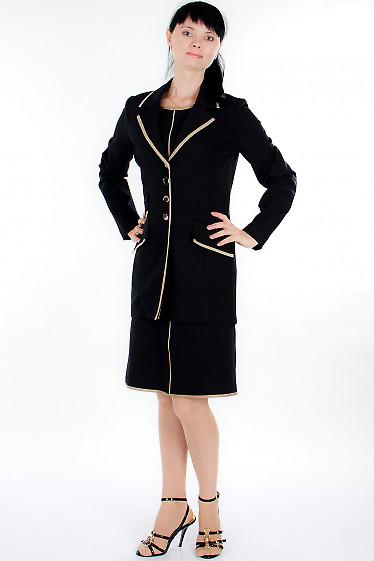 Жакет черный трикотажный Деловая женская одежда