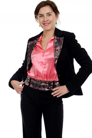 Жакет с цветным воротником Деловая женская одежда