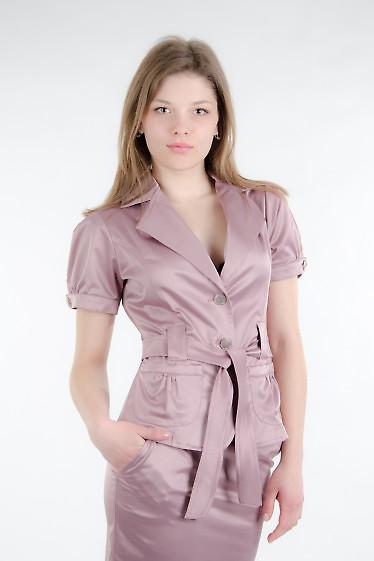 Жакет с поясом какао Деловая женская одежда