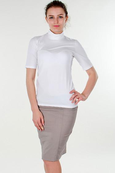 Фото Гольф белый с коротким рукавом Деловая женская одежда
