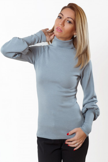 Гольф серый из ангоры Деловая женская одежда