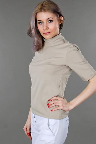 Фото Гольф светло-бежевый с коротким рукавом Деловая женская одежда