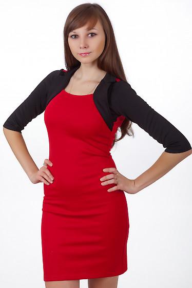 Фото Платье красное с черным болеро  Деловая женская одежда