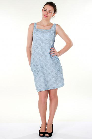 Фото Сарафан  голубой  летний Деловая женская одежда