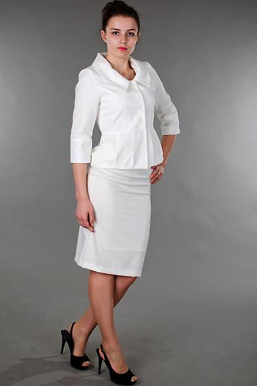 Фото Юбка классическая белая Деловая женская одежда