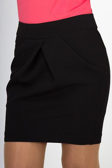 Фото Юбка короткая черная Деловая женская одежда