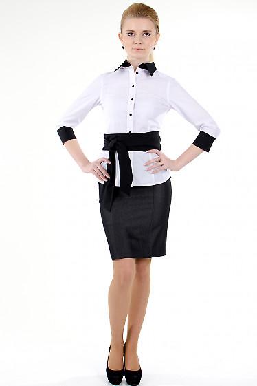 Фото Юбка темно-серая с рельефами Деловая женская одежда