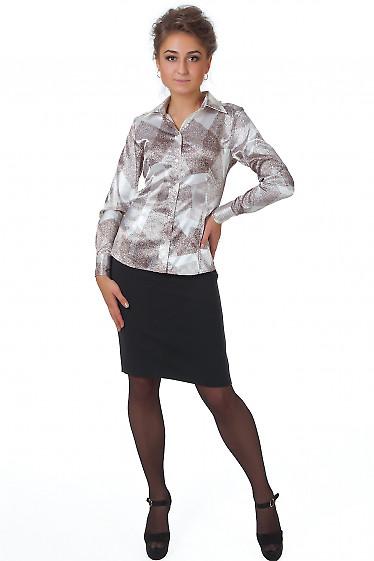 Фото Юбка теплая черная с высокой талией Деловая женская одежда