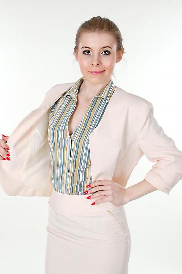 Болеро кремовое Деловая женская одежда