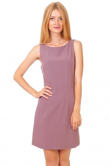 Платье классическое сиреневое Деловая женская одежда