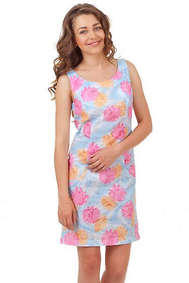 Сарафан летний  в розовые ромашки Деловая женская одежда