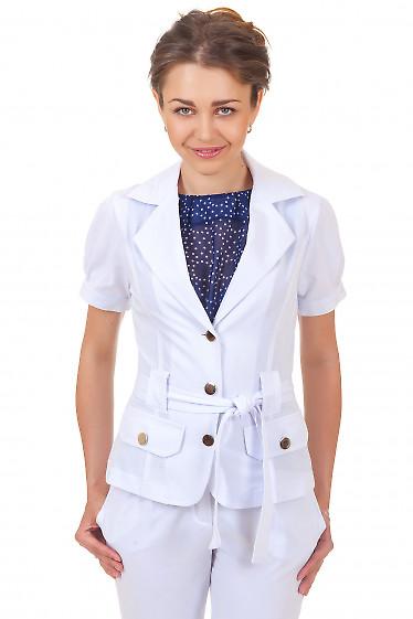 Купит белый жакет с коротким рукавом Деловая женская одежда